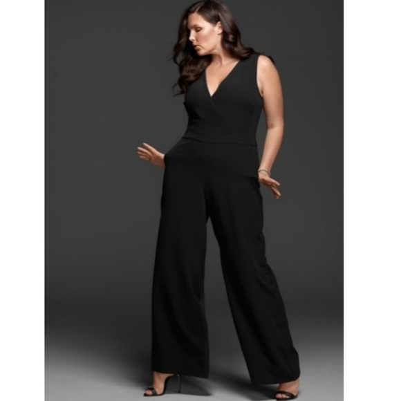 3b1ab109232 NWT Lane Bryant Black Jumpsuit Size Plus 14 16